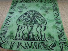 mushrooms printed tapestry