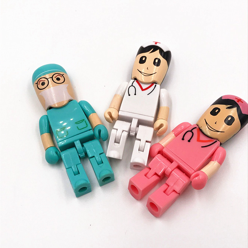 bulk hospital promotion doctor usb flash drive 2gb 4gb,white 2gb nurse flash drive usb with logo,customised usb pen flash drive