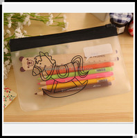 School plastic pencil case/clear plastic pencil case
