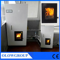 24KW outdoor Automatic feeding cheap rice pellet boiler pellet hydro stove furnace