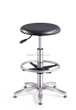 Durable Hospital Pheumatic Lab Stool With Stainless Steel Footring