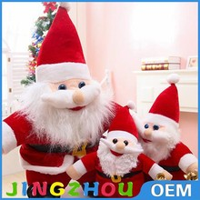 Christmas decorative Santa claus stuffed toy, soft plush Santa claus toy,Festival gift toy