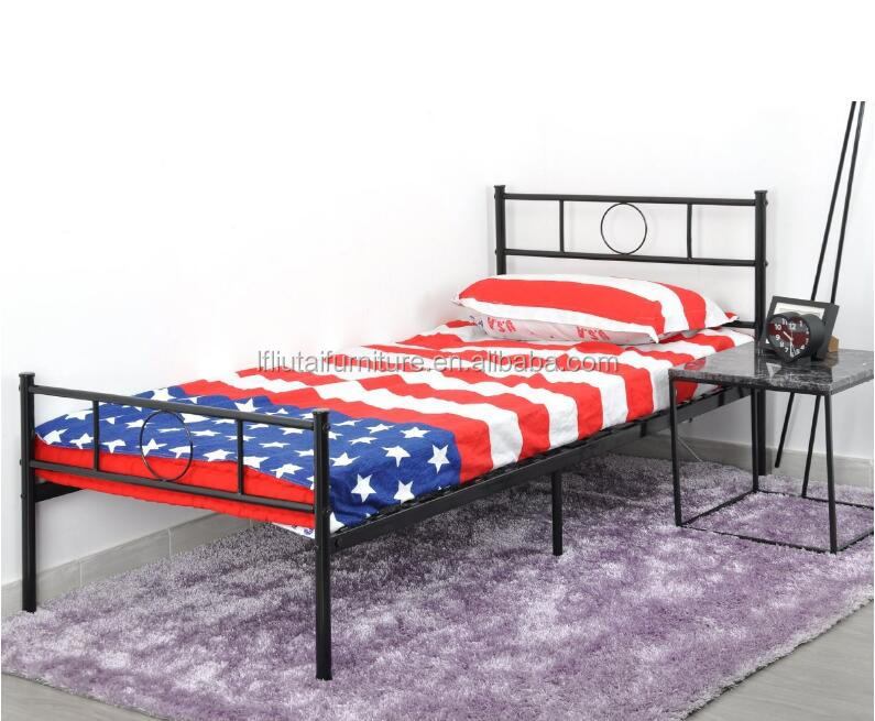 Twin Size Bed Frame/Stable Metal Slat Support/No Boxspring needed/with Headboard