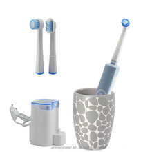 China factory OEM adult electric toothbrush with brush head holder