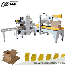 Automatic up and down adhesive tape beverages case sealing machine Automatic Carton Case Joint Edge Sealing Packing Machine