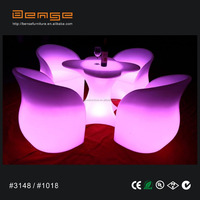 2014 new LED furniture sets LED glowing sofa for nightclub/events