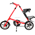 "Aluminum Folding Bike 14"" 16"" Mini Bike Urban Commuter Bicycle Double Disc Brake"