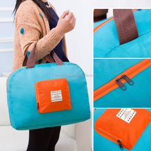 fashion polyester travel fold bag carry bag