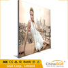 Flex banner LED backlit advertising outdoor free standing frameless fabric light box with printing textile fabric