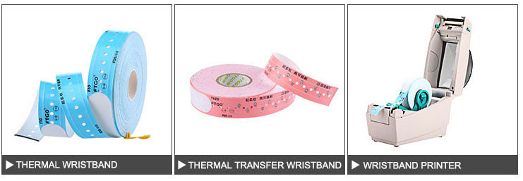 Hospital ID tracking paper NTAG213 disposable Printable RFID Vinyl Bracelet wristband