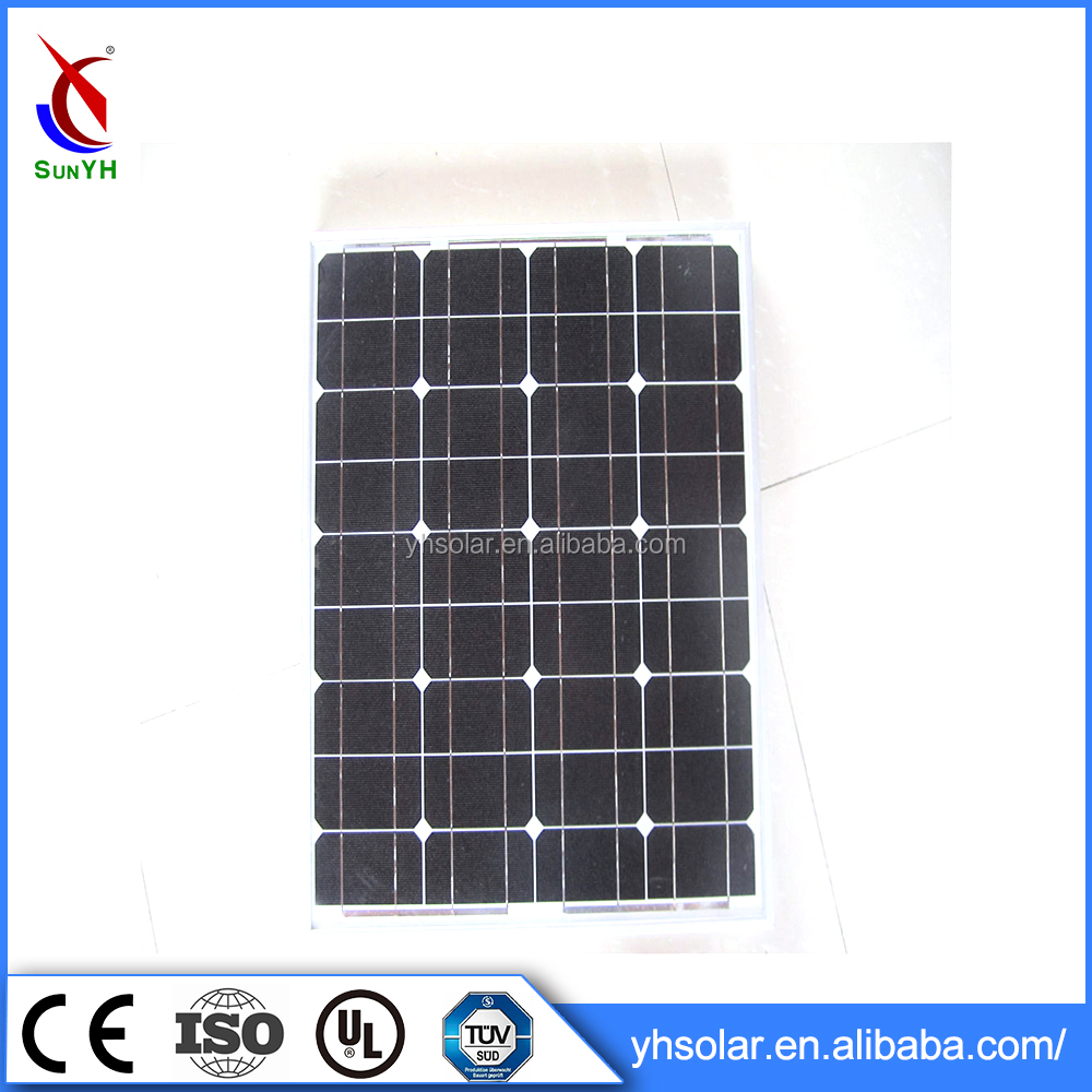 Low Price Solar Panel Monocrystalline 50 Watt Solar Panel