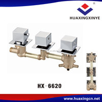Factory Square Shape Handle Brass Shower