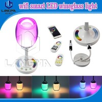 Langma night light available new invention popular design wineglass restaurant decoration table light