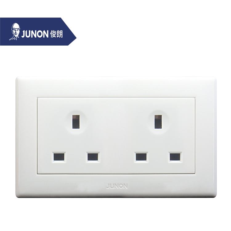 JUNON Factory Direct Sale Double 13A 3 Pin Electric Wall Socket