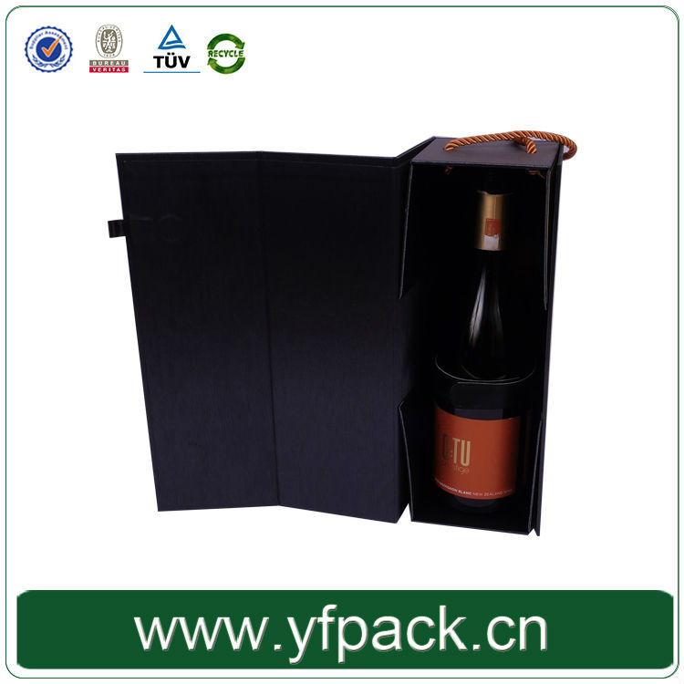 leather belt wrapping holder bottle single bottle matte black wine box