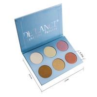 Fashion 6 color highlighter makeup face powder highlighter palette