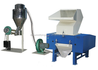 Plastic PP PE film bag crusher with recycling system