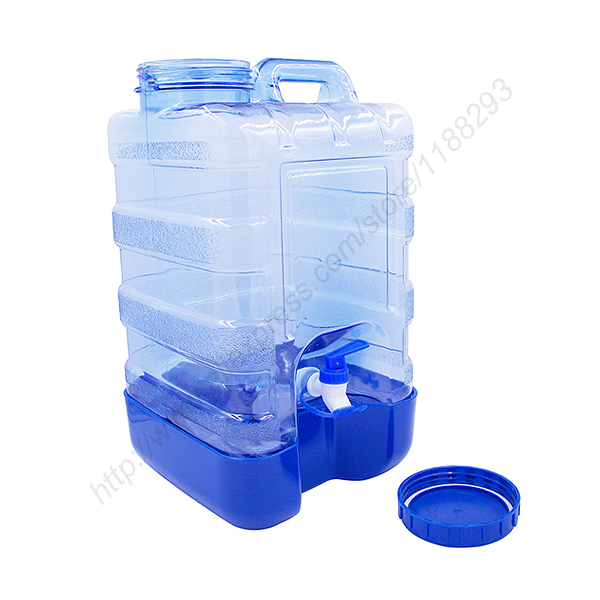get quotations new 5 gallon plastic water bottle reusable wide cap jug container with valve
