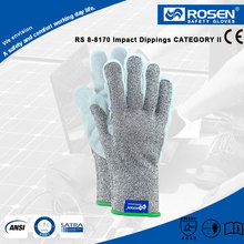 RS SAFETY Cow leather palm and impact knitting Leather working glove
