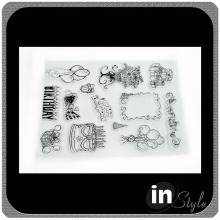 custom photopolymer stamps, acrylic alphabet stamps, photopolymer clear stamps