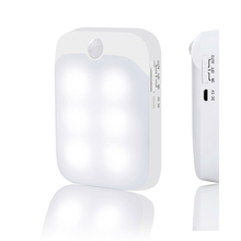 USB rechargeable gravity sensor on-off led night light