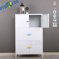 Half Height Cupboard Bedroom Furniture Steel Children Clothes Storage Cabinets Design