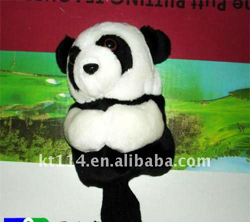 panda golf head cover with 100% cotton