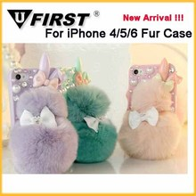 Calabash Brothers luxury fur case;winter rabbit fur phone cases For iPhone6