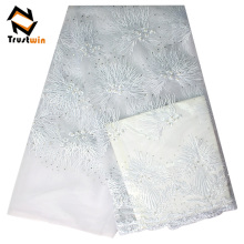 top-one china lace fabric high quality net french lace fabric
