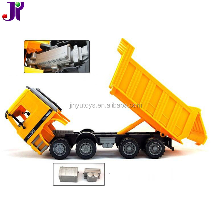 1:22 Plastic Engineering Vehicle Jumbo Friction Construction Dump Truck Toys for sale