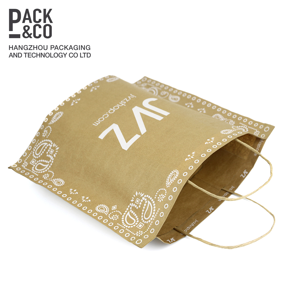Professional recyclable brown kraft paper bag made in China