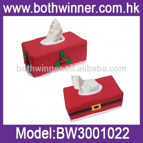 cloth tissue box cute packaging container tissue box ,MW095 christmas gift cloth tissue boxes