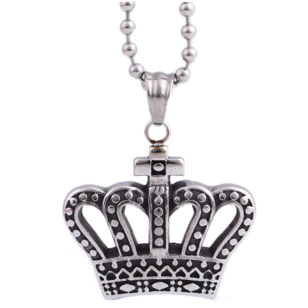 Fashion High quality Imperial crown Pendant Wholesale Retro Punk Pendant Necklaces for Men & Women Jewelry