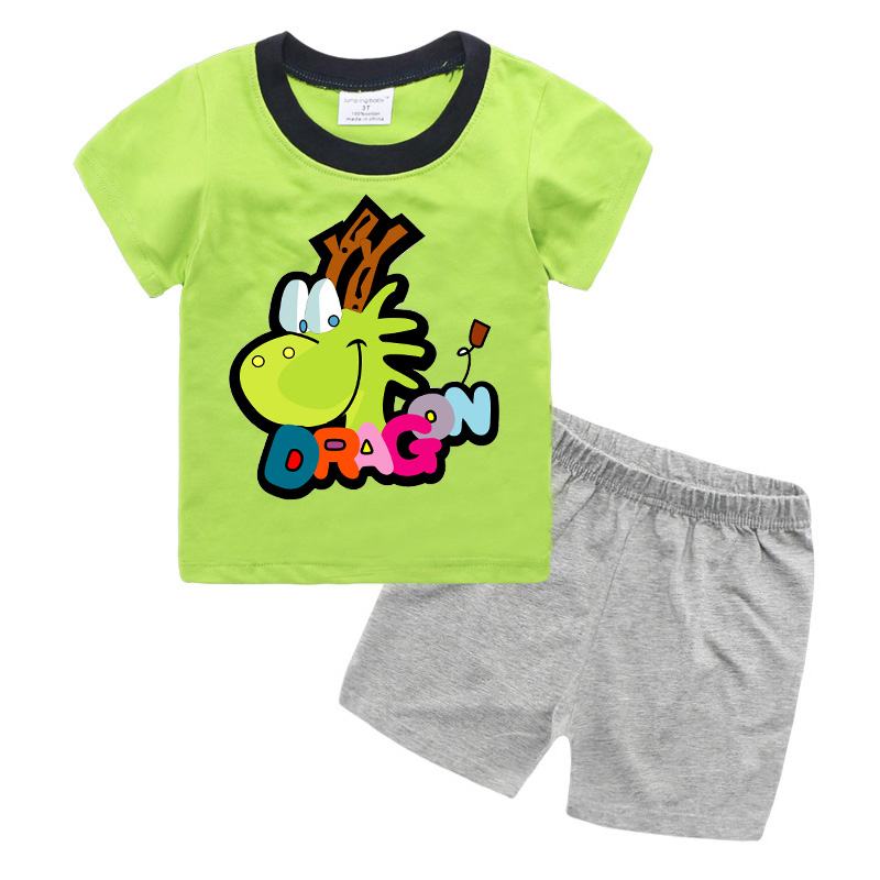 Cartoon Children Boys Clothing Set Summer 2017 Baby Suit Short Sleeve Kids Boys Clothes TB01