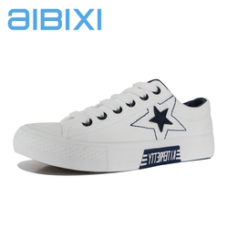 AIBIXI Alibaba Cheap Types Lace Up Grey Color Casual Canvas Women Shoes