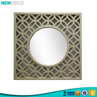 Custom plastic decorative champagne mirror frame