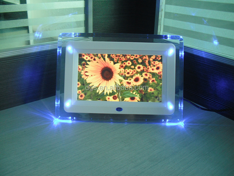 "7"" LCD LED Lighted Digital Photo Frame electronic picture frames"