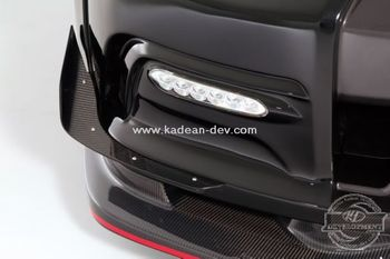 R35 GTR VARIS 14 VER SINGLE CANARD CARBON FIBER
