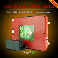 Innovative deep cycle ultra light only 3.5KGS 12v lithium dry cell battery ups 50ah 100ah 200ah with 10A/h battery charger