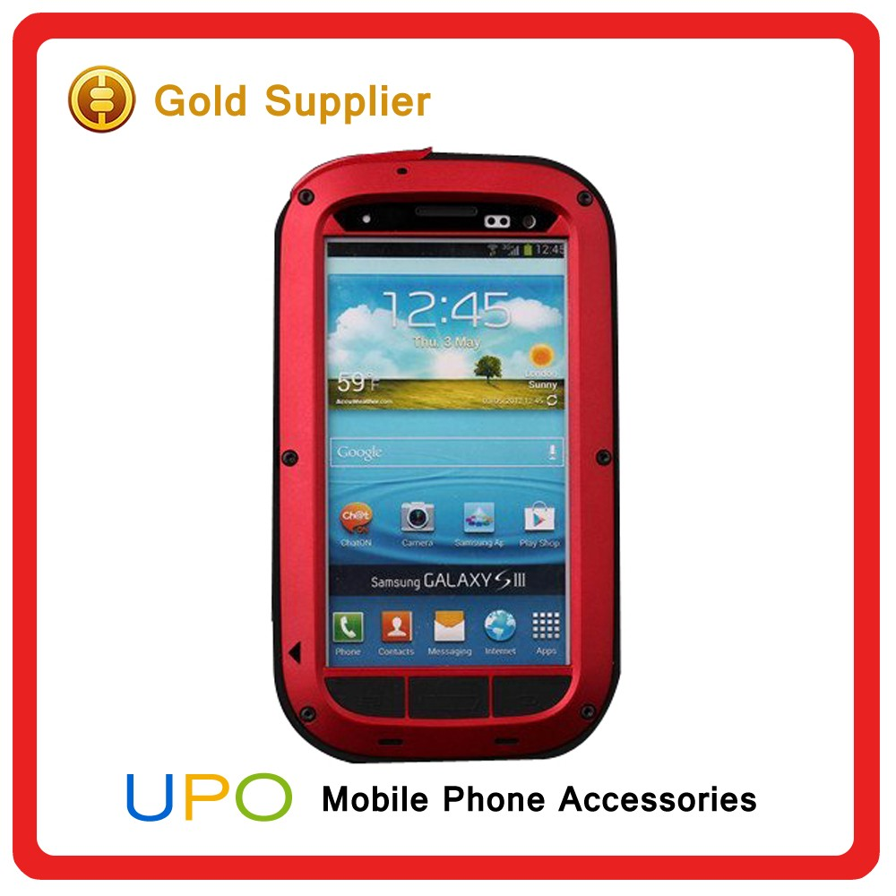 [UPO] Metal Hard Full Body Shock Proof Defender Case For Samsung Galaxy S3