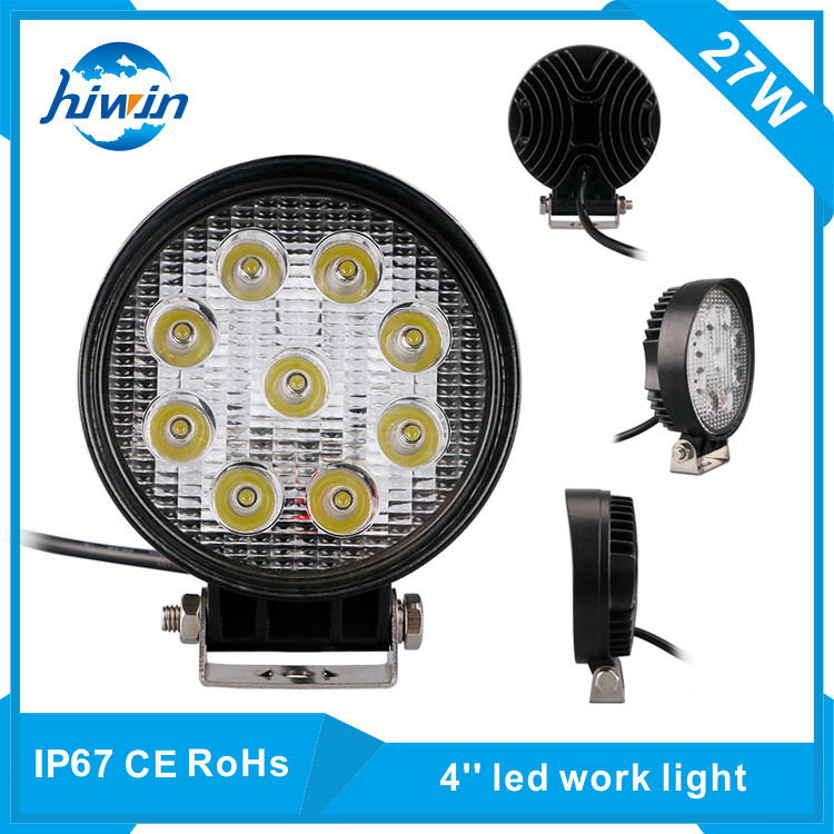 Hiwin 27W 4.2inch Diecast Aluminum Housing Truck Led Work Lights For Car Headlights<<