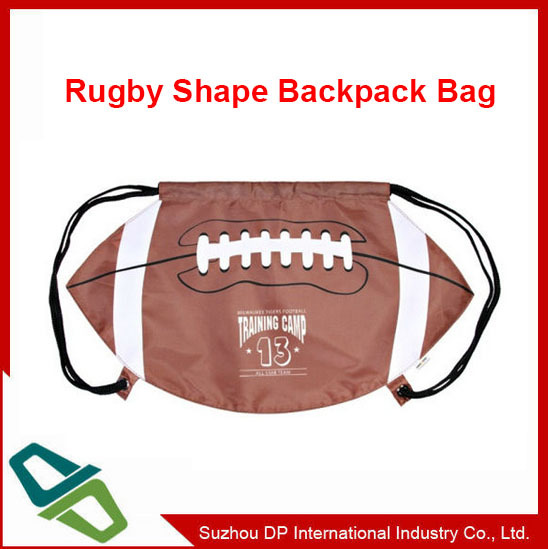 Foorball Shape Drawstring Bag Sports Bag Backpack