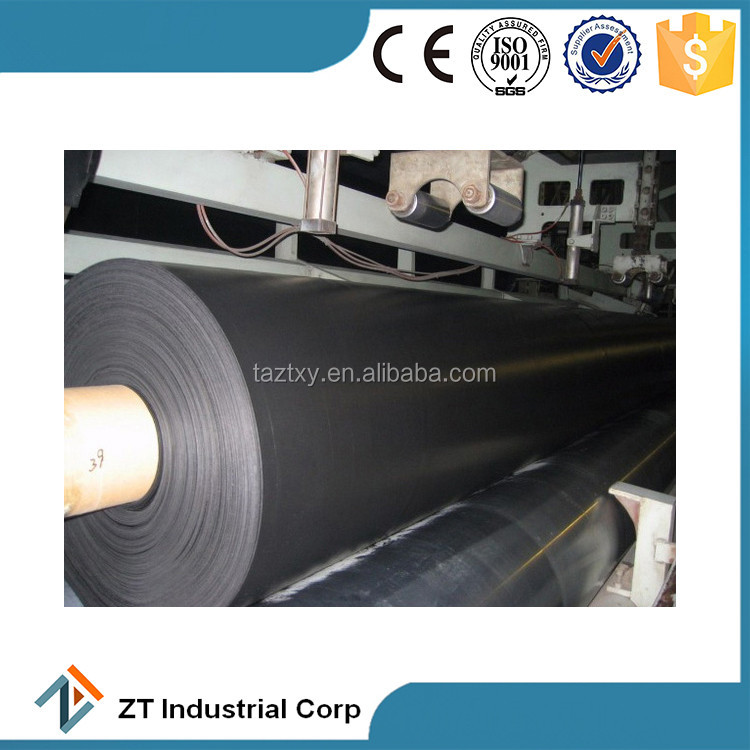 HDPE black rolls geomembrane liner hdpe roofing sheet