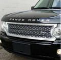 SILVER front grille For LAND-ROVER DISCOVERY 3, front bumper mesh grille for lr3
