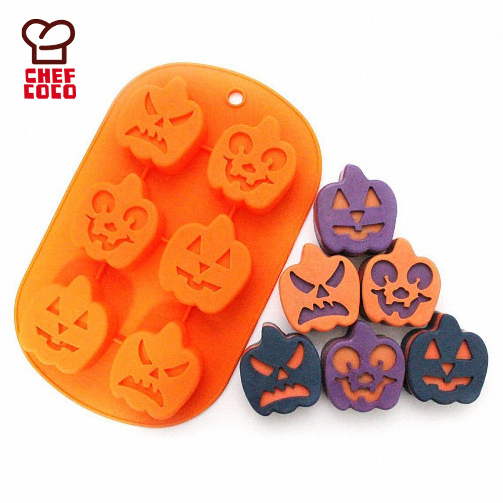 Halloween Non Stick Silicone Baking Molds for Cake Muffin Chocolate Jelly and Candy