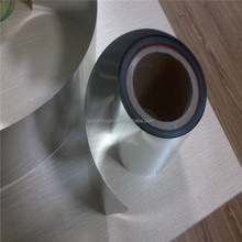 High Gloss Aluminum mirror metallized polyester film/reflective mylar film