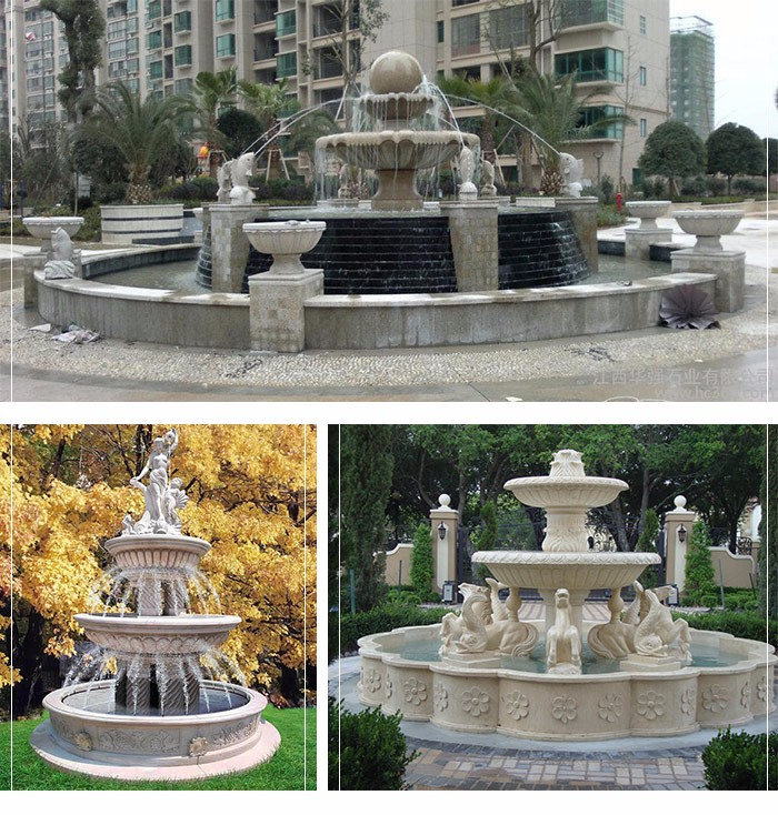 Custom Hand Carved outdoor garden water fountain for price