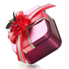 Wholesale 2014 tin wedding favour gift box