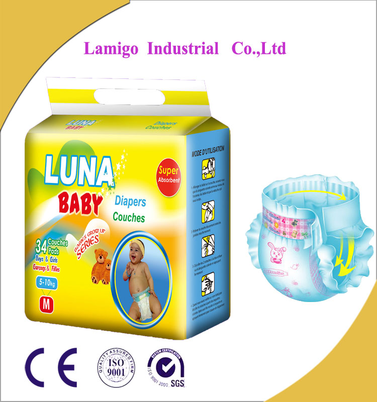 Best Selling Competitive Price Wholesale Cottony Adult Baby Diaper from Fujian Factory of China