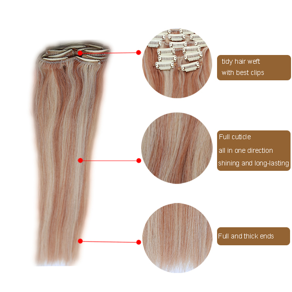 No Tangle No Shedding The Clip-in Yaki Human Hair Extensions
